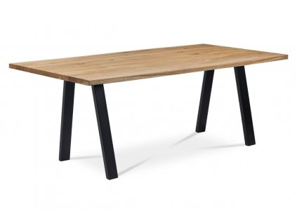 Jídelní stůl dub / kov 180 x 90 x 75 cm