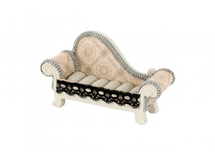 Sada 2 ks stojanů: Stojánek na prstýnky z polyresinu, sofa 14 cm