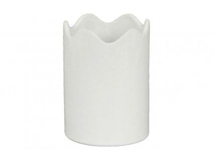 Váza keramická, bílá 12 cm