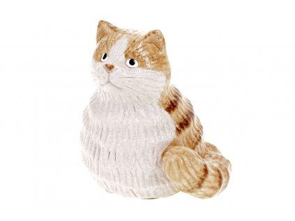 Sada 8 ks dekorací: Kočka keramická 5,7 x 4,6 x 6,4 cm