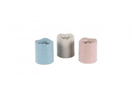 Sada 12 ks: LED svíčky mix 3 barev 3,8 x 4,5 cm