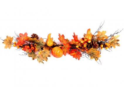 Sada 24 ks dekorací: Proutěné větve se šiškami 10 x 58 cm