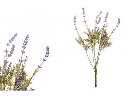 Sada 12 ks dekorací: Levandule fialové 47 cm