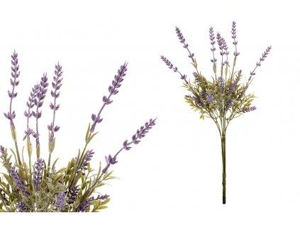 Sada 12 ks dekorací: Levandule fialové 47,5 cm