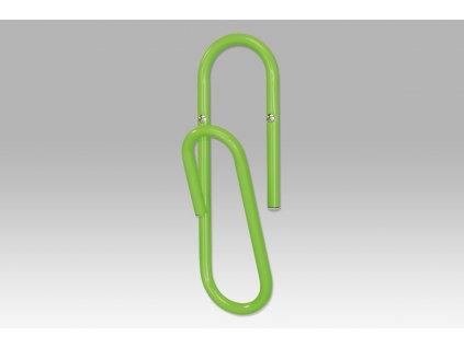 Nástěnný věšák zelený 10 x 30 cm