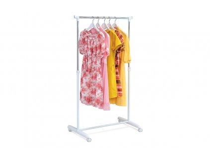 Stojan na šaty chrom / bílý 80 x 94 - 160 x 43 cm