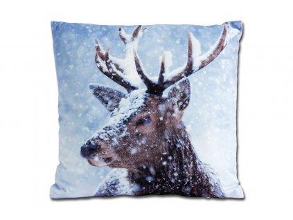 Dekorativní polštář se zimním motivem 45 x 45 cm