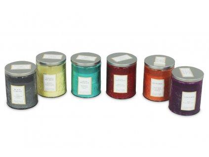 Sada 6 ks: Svíčka ve skle, mix vůní 9 x 7 cm
