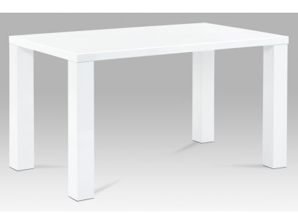 Jídelní stůl bílý 135 x 80 x 76 cm