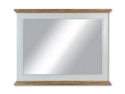 Zrcadlo bílé dřevěné 78,5 x 62 cm