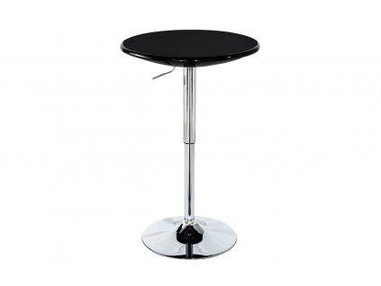 Barový stůl černý 75 - 96 cm