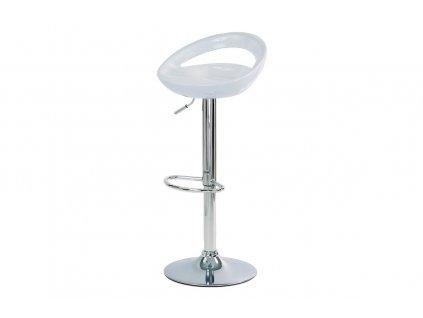 Barová židle bílá 62 - 84 cm