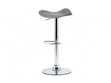 Barová židle šedá 58 - 79 cm
