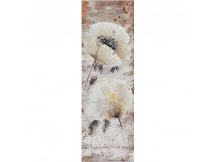 Ručně malovaný obraz květin 30 x 90 cm