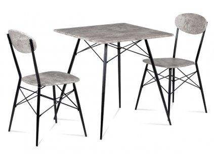 .Jídelní set beton / černá