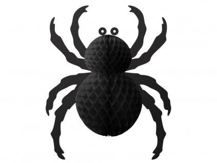 Pavouk papírový černý 28 cm