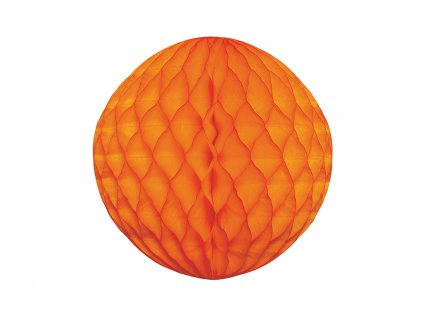 Koule papírová oranžová 20 cm