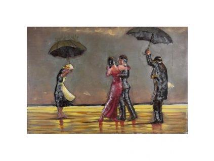 Kovový obraz tanec v dešti 120 x 80 cm