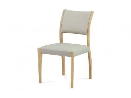Jídelní židle lanýžová ekokůže / bělený dub