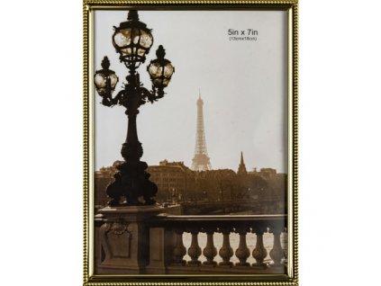 Kovový rámeček zlatý 13 x 18 cm