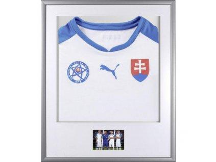 Rám na fotbalový dres stříbrný 57 x 70 cm