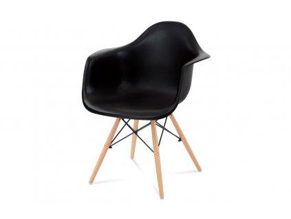 Jídelní židle černá plastová / buk