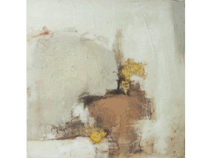 Ručně malovaný obraz abstraktní 30 x 30 cm