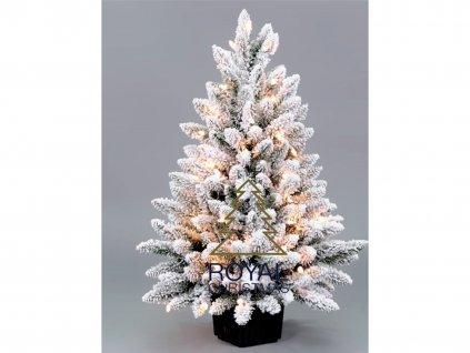 Vánoční stromek svítící DELUXE 75 cm v květináči.