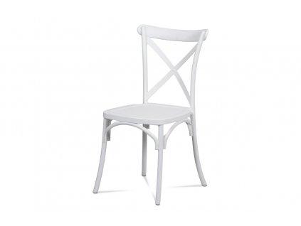 Jídelní židle bílá plastová