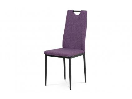 Jídelní židle fialová látka / kov