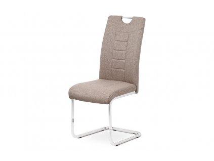 Jídelní židle coffee látka / kov