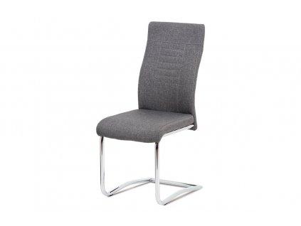 Jídelní židle šedá látka / chrom