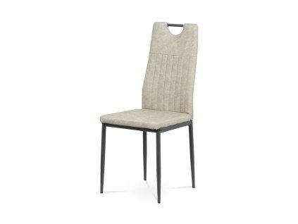 Jídelní židle šedá ekokůže / kov
