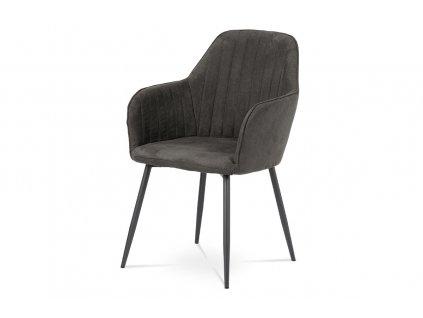 Jídelní židle v šedá látka / kov