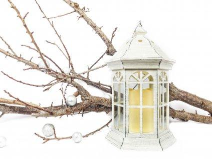 Lucerna světelná bílá 37 cm