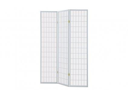 Paraván trojdílný bílý 180 cm