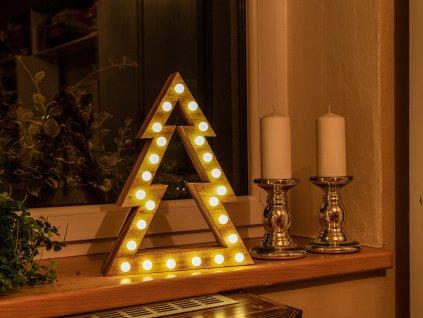 LED STROMEK světelný s žárovkami 37 cm