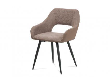 Jídelní židle lanýžová látka / kov