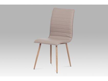 Jídelní židle lanýžová koženka / dub