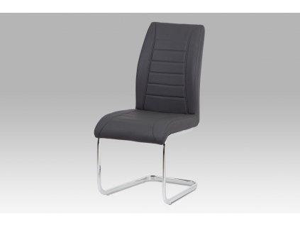 Jídelní židle šedá ekokůže /chrom