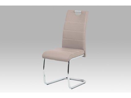 Jídelní židle béžová ekokůže /chrom