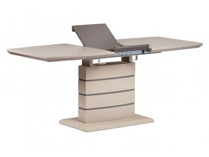 Jídelní stůl rozkládací cappuccino / šedohnědý 140 - 180 x 80 cm