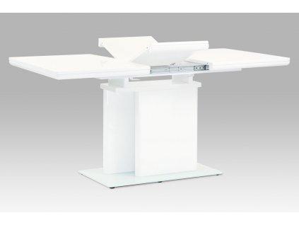 Jídelní stůl rozkládací bílý / lesk 120 - 160 x 80 cm