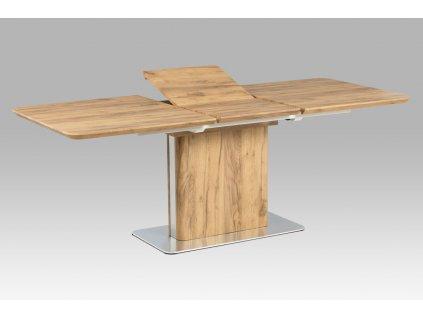 Jídelní stůl rozkládací dub / nerez 160 - 210 x 90