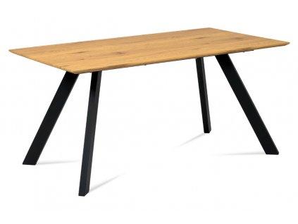 Jídelní stůl dub / kov 160 x 90 cm