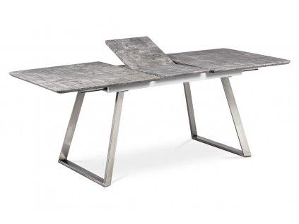 Jídelní stůl rozkládací beton / nerez 160 - 200 x 90 cm