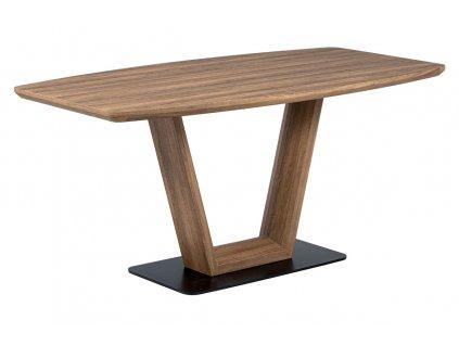 Jídelní stůl tmavý dub / kov 160 x 85 cm