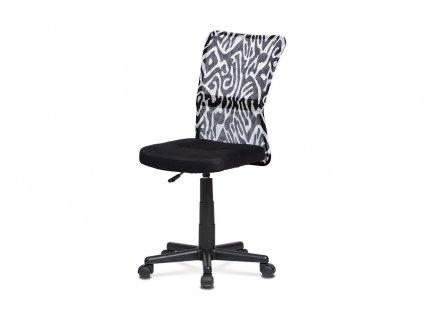 Kancelářská židle černobílá síťovina / plast