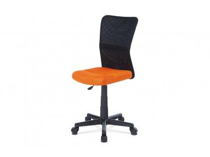 Kancelářská židle oranžová látka / plast