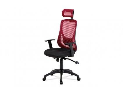 Kancelářská židle červená síťovina / plast